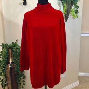 Thick Long sleeve sweater Red XL